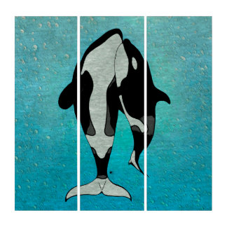 Orca Whales Family Triptych