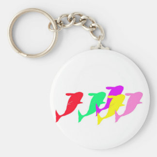 orca whales in multicolor keychain