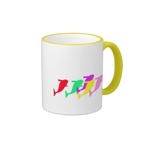 orca whales in multicolor mug