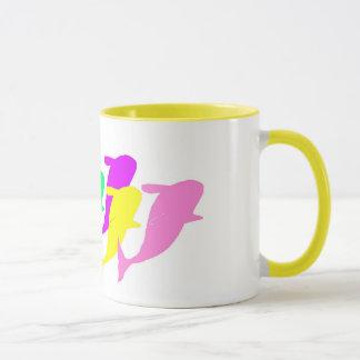 orca whales in multicolor mug