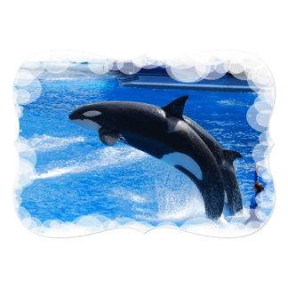 Orca Whales Custom Invitations