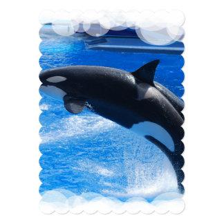 Orca Whales Personalized Invitation
