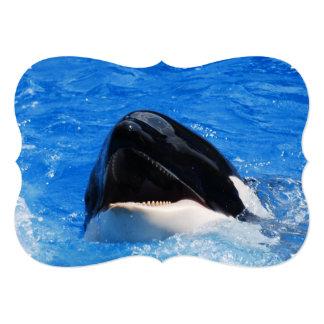 Orca Whales Invitation