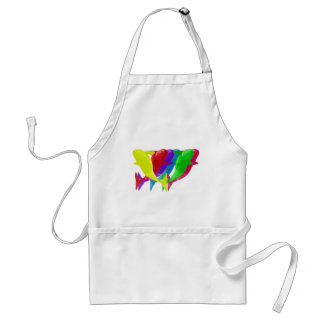 Orca Whales Jump In Six Multicolors Adult Apron