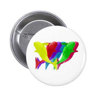 Orca Whales Jump In Six Multicolors Button
