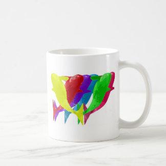 Orca Whales Jump In Six Multicolors Coffee Mug