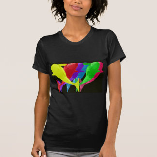 Orca Whales Jump In Six Multicolors T-Shirt