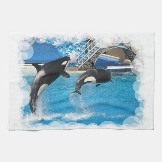 Orca Whales Kitchen Towel