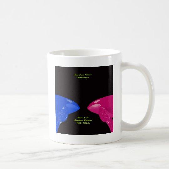 Orca Whales Nose to Nose Coffee Mug