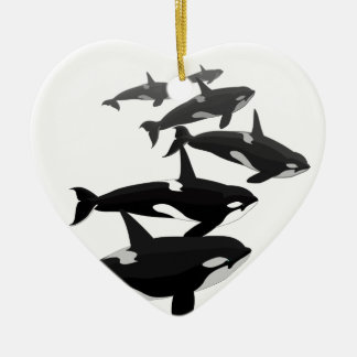 Orca Whales Ornament Personalized Whale Ornament