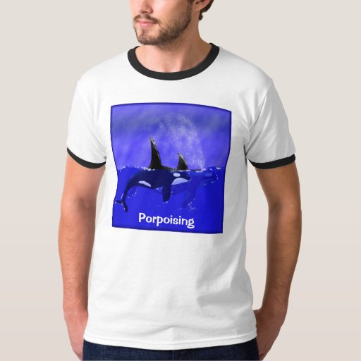 Orca Whales Porpoising T-shirt