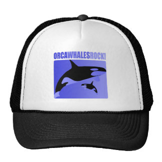 Orca Whales Rock Trucker Hat