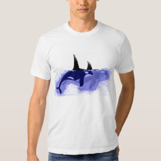 Orca Whales Swimming on T-shirt