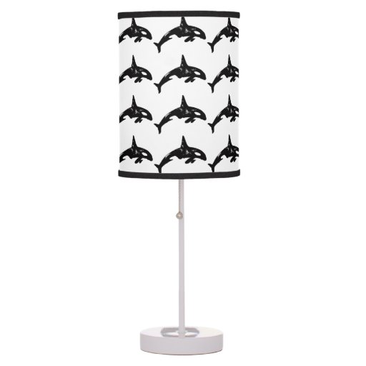 Orca Whales Table Lamp