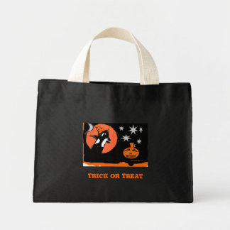 Orca Witch Trick or Treat Mini Tote Bag