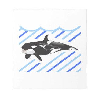 ORCA Y BECERRO EN AGUA LIBRETA PARA NOTAS