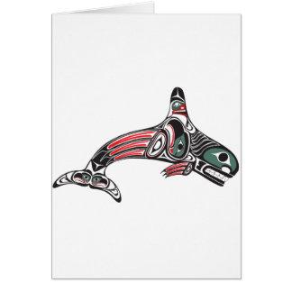 Orca y Eagle del Tlingit Felicitación