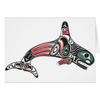 Orca y Eagle del Tlingit Tarjeta De Felicitación