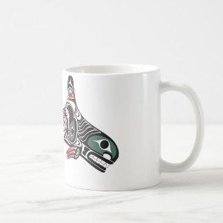 Orca y Eagle del Tlingit Taza De Café
