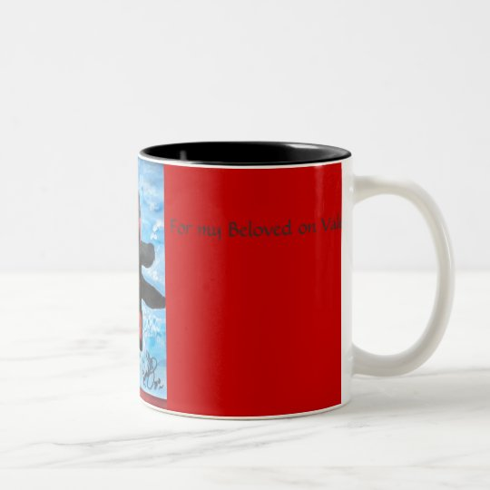 orcaheart, For my Beloved on Valentines Day Two-Tone Coffee Mug