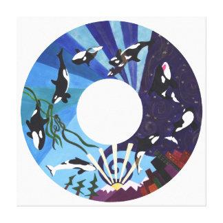 Orcas Ascending Canvas Prints