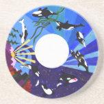 Orcas Ascending Drink Coasters