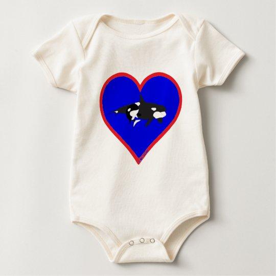 orcas baby bodysuit