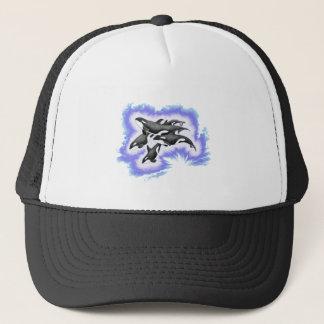 ORCAS BLUE FLARE TRUCKER HAT