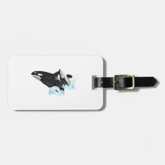 ORCAS BREACHING TRAVEL BAG TAG