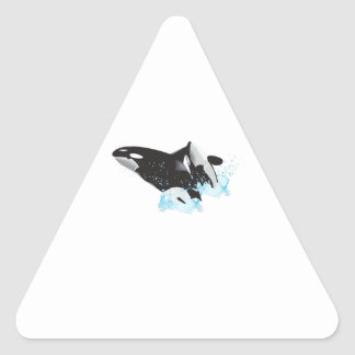 ORCAS BREACHING TRIANGLE STICKER