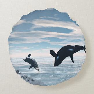 Orcas Cojín Redondo