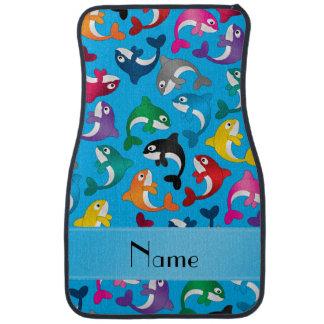 Orcas conocidas personalizadas del arco iris del alfombrilla de auto