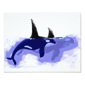 """Orcas de las orcas invitación 4.25"""" x 5.5"""""""
