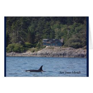 Orcas de Washington de las islas de San Juan de la Tarjeta De Felicitación