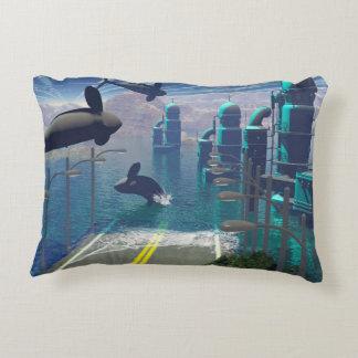 Orcas del vuelo cojín decorativo
