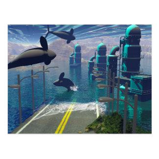 Orcas del vuelo tarjeta postal