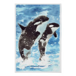 Orcas del Watercolour Impresiones