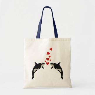Orcas en amor bolsa tela barata