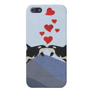 Orcas en amor iPhone 5 cobertura