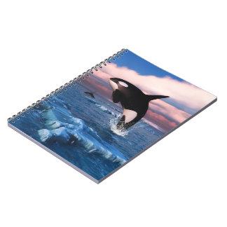 Orcas en el Océano ártico Spiral Notebook