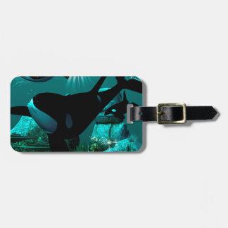 Orcas Etiquetas Maleta