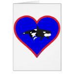 orcas greeting cards