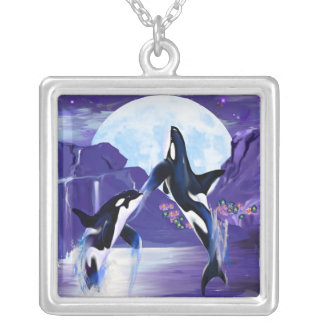 Orcas In A Bay Custom Jewelry