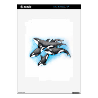 orcas in blue decal for the iPad 2