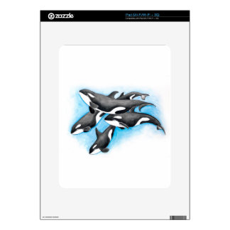 orcas in blue iPad skin