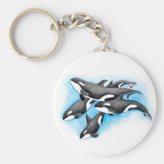orcas in blue keychain