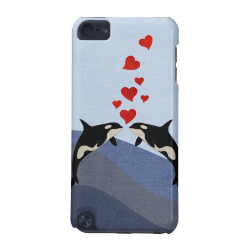Orcas In Love iPod Touch 5G Cases