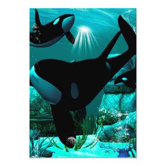 "Orcas Invitación 5"" X 7"""