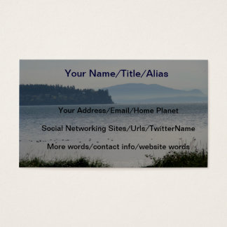 Orcas Island From Birch Bay Business Card