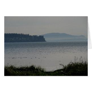 Orcas Island From Birch Bay Card